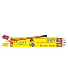 FfUuNn Pencil Griprite Multicolor - Pack of 10