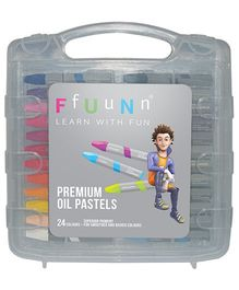 FfUuNn Premium Oil Pastels Multicolor - Pack of 24