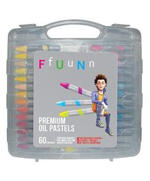 FfUuNn Premium Oil Pastels Multicolor - Pack of 60