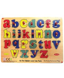 Learners Play English Alphabet Lowercase Puzzle With Knobs Multi Color - 26 Pieces
