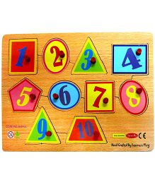 Learners Play Counting Shapes With Knobs Multi Color - 10 Pieces