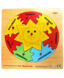Learners Play Week Knob Puzzle Multicolor - 8 Pieces
