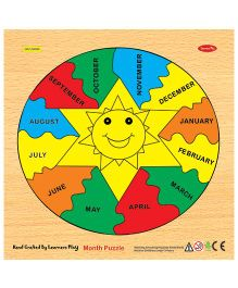Learners Play Month Knob Puzzle - Multicolor
