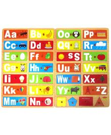 Learners Play Alphabet Picture Shape Matching Board - 30 Pieces