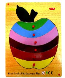 Learners Play Apple Knob Puzzle Multi Color - 6 Pieces