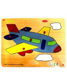 Learners Play Airplane Knob Puzzle Multicolor - 7 Pieces
