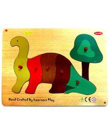 Learners Play Dinosaur Knob Puzzle Multicolor - 6 Pieces