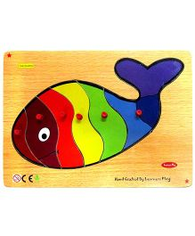 Learners Play Fish Knob Puzzle Multicolor - 6 Pieces