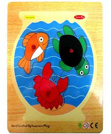 Learners Play Fish Tank Knob Puzzle Multicolor - 3 Pieces