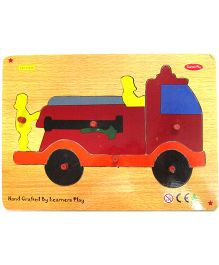 Learners Play Fire Truck Knob Puzzle Multicolor - 5 Pieces