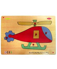 Learners Play Helicopter Knob Puzzle Multicolor - 5 Pieces