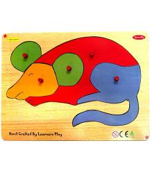 Learners Play Mouse Knob Puzzle Multicolor - 5 Pieces