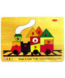 Learners Play Shape & Color Train Knob Puzzle Multicolor - 10 Pieces