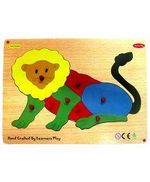 Learners Play Lion Knob Puzzle Multicolor - 7 Pieces