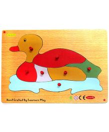 Learners Play Duck Knob Puzzle Multicolor - 7 Pieces