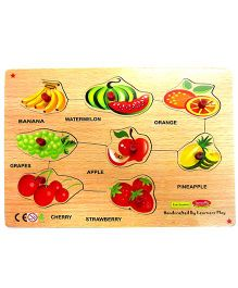 Learners Play Fruits Knob Puzzle Multicolor - 8 Pieces