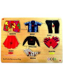 Learners Play Clothes Knob Puzzle Multicolor - 7 Pieces