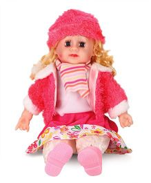 Smiles Creation Doll With Jacket Pink White - 54 cm