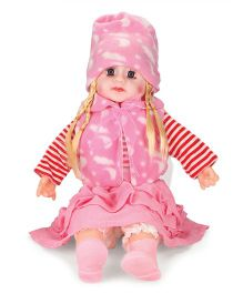 Smiles Creation Doll With Jacket Pink Red - 54 cm
