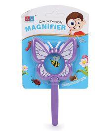 Comdaq Magnifier Glass With Handle Purple - 15 cm