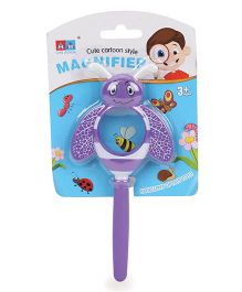 Comdaq Magnifier Glass With Handle Purple - 15 cm