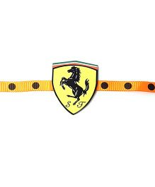 Thought Counts Horse Print Rakhi - Black & Yellow