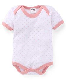 Playbeez Small Polka Dot Print Onesie - Pink