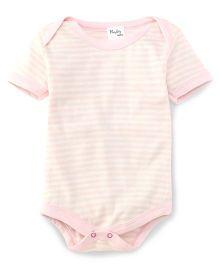 Playbeez Striped Bodysuit - Pink