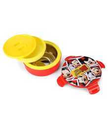 Disney Mickey Mouse Round Lunch Box - Red And Yellow