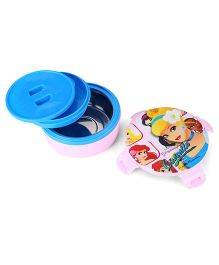 Disney Cinderella Round Lunch Box - Pink And Blue