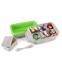 Marvel Avengers Lunch Box - Green And Grey