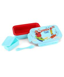 Motu Patlu Lunch Box - Red And Light Blue