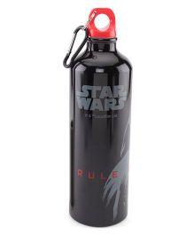 Disney Star Wars Metal Sipper Bottle Black - 750 ml