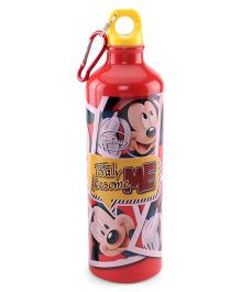 Disney Mickey Mouse Metal Sipper Bottle Red - 750 ml