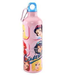 Disney Cinderella Metal Sipper Bottle Pink - 750 ml