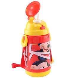 Disney Mickey Mouse Insulated Sipper Bottle Yellow And Red - 300 ml