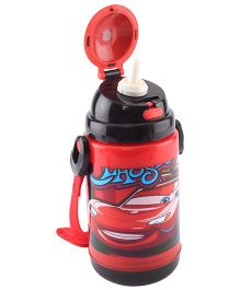 Disney Pixar Cars Insulated Sipper Bottle Bblack And Red - 300 ml