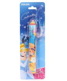 Disney Cinderella Pencil Shaped Eraser - Blue And Yellow