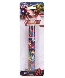 Marvel Avengers Pencil Shaped Eraser - Multi Color