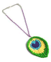 Soulfulsaai Peacock Feather Necklace - Multicolour