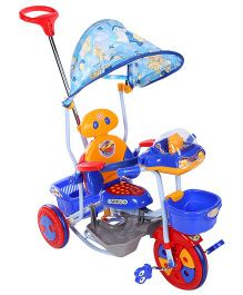 Mee Mee Lets Explore Rocking Tricycle With Canopy Blue - BT-860 A