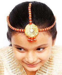 D'chica Ethnic Headgear Jewellery  - Orange