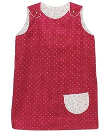 Kadambaby A-Line Corduroy Reversible Dress - Maroon