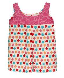 Kadambaby Polka Print Summer Dress - Multi Color