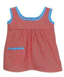Kadambaby Sleeveless Stripe Dress - Red