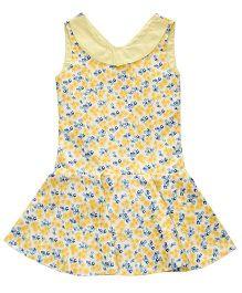 Kadambaby Sleeveless Dress Floral Print - Yellow