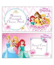 Disney Princess Food Labels - Pack of 10