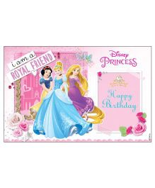 Disney Princess Table Mats Pack of 6 - Pink And Blue