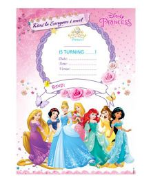 Disney Princess Invitations Cards - Pack of 10