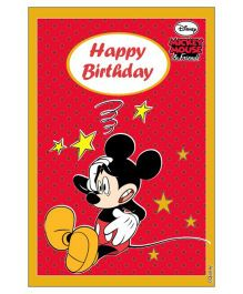 Disney Mickey Mouse Vertical Banner 04 - Red And Yellow
